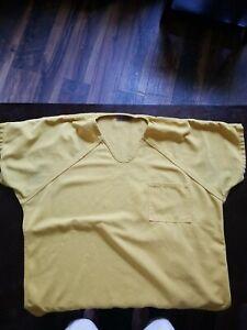 Authentic Jail Uniform.  Shirt size is XL. Pants are M with elastic. Actual jail