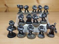 15 plástico Warhammer Hierro manos marines espaciales pintado (1067)