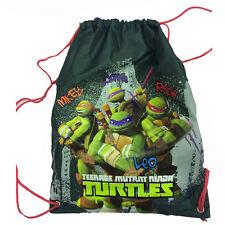 TORTUE NINJA sac à dos cordon de serrage tissu vert militaire imprimé 31x40 cm