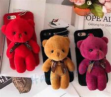 Cute Bear Doll Mobile Phone Accessories Plush Toys Chain Bag Pendant 10CM