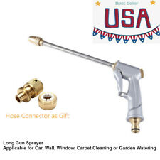 High Pressure Long Spray Gun Nozzle Wand + Hose Connector For Car / Gardern Wash