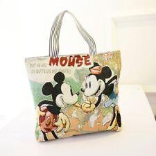 Mickey Mouse purse bag shoulder shopper stitch Canvas unisex handbag