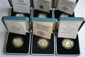 Royal Mint Silver Proof £1 One Pound Coin Choice of Year COA