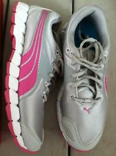 Puma Pink Gray Ladies Size 6 $69.99 Silver Sneaker