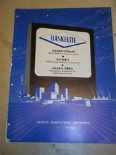 Haskelite Manufacturing Corp Catalog~Asbestos~Hasko-Struct/Hasko-Preg 1956