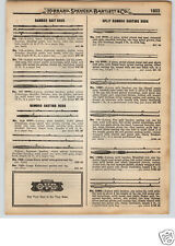 1922 PAPER AD Split Bamboo Fly Casting Rods Rev-O-Noc Dowagiac