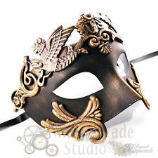 Mens Greek Roman Warrior Venetian Costume Theatre Masquerade Ball Mask [Gold]