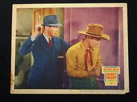 SECRET VALLEY 1936 * RICHARD ARLEN * VIRGINIA GREY * WESTERN LOBBY CARD!!
