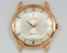 609a2c48dd1 Vintage Omega 18k Rose Gold Geneve Automatic Ref. 14703 61 w  Cross Hair  Dial
