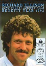 Richard Ellison año de beneficio de 1993-Kent Cricket Club Del Libro