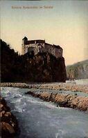 Schloß Runkelstein Sarntal bei Bozen Bolzano Italien Color AK ~1910 Südtirol