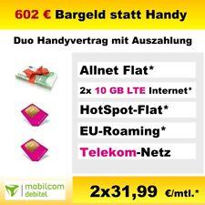 Handyvertrag mit Auszahlung statt Handy, Duo Sim Vertrag Allnet Flat 10 GB LTE