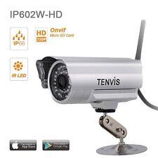 Tenvis IP602W-HD Caméra de surveillance extérieur HD 1280x720P IP Wifi sans fil