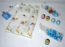 Lot Set Of 20 Doraemon Roly Toys Mini