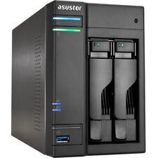 Asustor AS6302T Nas 20tb 2x10tb Sata3 Perp Tower Raid 0/1 Gbe Ddr3l 2bay