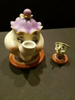 FROM WDCC BEAUTY AND THE BEAST - MRS. POTTS & CHIP AND LUMIERE  NIB  W/COA'S