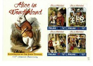 Palau - 2014 - Sir John Tenniel 100 Memorial Anniversary -Sheet of Four-MNH