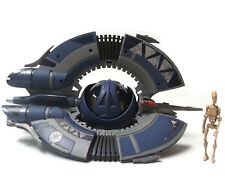 "Star Wars Clone Wars Federation Droid Fighter Ship Vehicle with 4"" Figure"