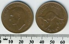 Australia 1944 (p) - 1 Penny Coin - George VI - Kangaroo leaping - WWII - #1