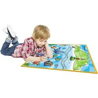 Kids Large Washable Coloring Play Mat with 'Fantastic Sea Life' Design by Dimple