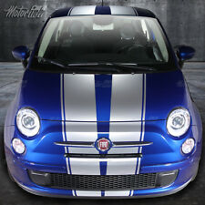 2007-2014 FIAT 500 Over the Top Rally Racing Double Stripes  Decals  hardtop