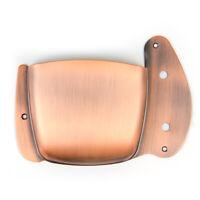 Jazz Bass Guitar Bridge Cover Pickup Cover Shield Brass Brown