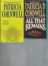 PATRICIA  CORNWELL - PREDATOR - A LOT OF 2 BOOKS