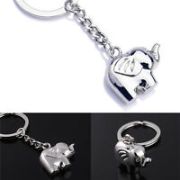 Vintage Funny Elephant Gold Keychain Keyring Key Charm Keyfob Gift Souvenir JCAU