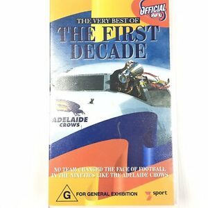 Adelaide Crows The Very Best of The First Decade VHS Tape AFL