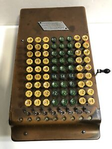 Antique / Vintage Felt & Tarrant The Comptometer Calculator Adding Machine