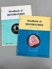 2 Vintage Handbook of Restorations Dental Technique Magazines Denture Vitallium