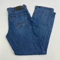 Timberland Denim Jeans Mens 36X34 Blue Straight Leg Relaxed Fit Stretch Washed