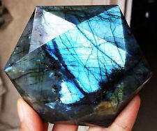 340g Natural Labradorite Crystal Rough Point Rock Polished Madagascar (D1)