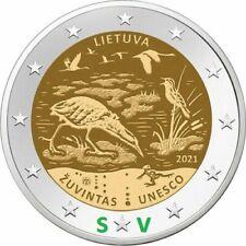 2 euro Lituania    2021  RISERVA  DELLA  BIOSFERA  DI  ZUVINTAS  IN PREVENDITA