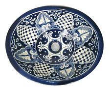 #025) Medium 17x14 Mexican Bathroom Sink Ceramic Drop In Undermount Basin