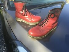 Dr Martens 1460 cherry red leather boots UK 9 EU 43 Made in Thailand