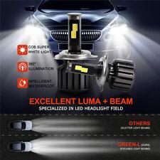 H4 9003 HB2 CREE COB LED Headlight Kit  120W 10000LM Hi/Lo Beams 6000K Power US