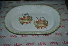 NEW M DERUTO RISOTTO Signed VITALY  ITALY Oval Large Serving/Baking Dish/Bowl