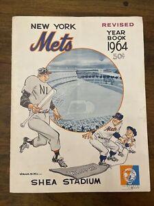 Vintage 1964 New York Mets Baseball Yearbook Shea Stadium Revised Casey Stengel