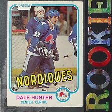 DALE HUNTER  RC  1981/82  O-Pee-Chee  #277  Quebec Nordiques  ROOKIE