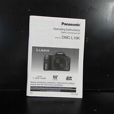 Panasonic DMC-L10K Camera Owners Guide Instruction Operating Manual English