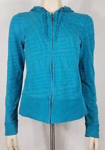 Harley-Davidson teal turquoise full zip hoodie hooded sweatshirt ladies Medium