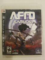 Afro Samurai PlayStation 3 PS3, 2009 NO MANUAL TESTED FREE S/H RARE