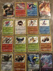 Pokemon Shining Fates Evee Vmax Full Art Amazing Rare Reshiram Baby Shinies Lot