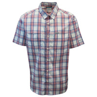 Columbia Men's Red Blue White Plaid Thirty Mile Ledge EXS S/S Woven Shirt (683)