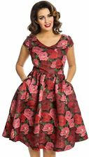 LINDY BOP  NWT Gabianna Raindrop Roses Swing Dress - UK 14