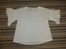 brand new maternity white top short sleeved lace on short sleeves size 18 next