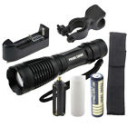 5000LM XM-L T6 LED Tactical Zoomable Flashlight Torch Light+18650+Charger+Holder