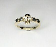Skull Diamond Ring, Black White Diamond Ring