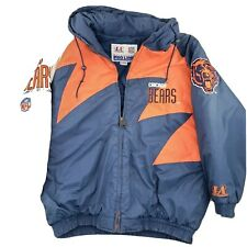 Vintage Chicago Bears Logo Athletic Sharktooth Winter Jacket Hoody Snapback NFL